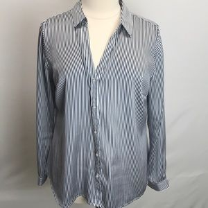 ELOQUII silky long sleeve button down shirt